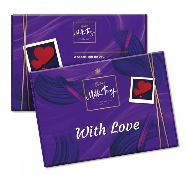 VALENTINE'S DAY MILK TRAY BOX