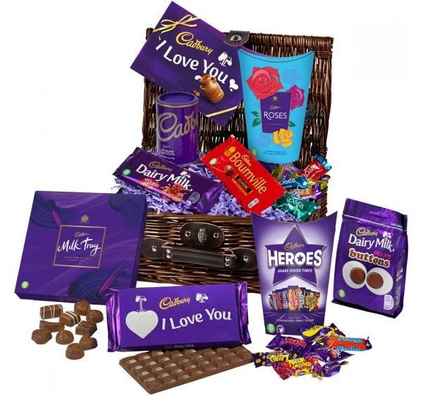Cadbury valentine's chocolate basket