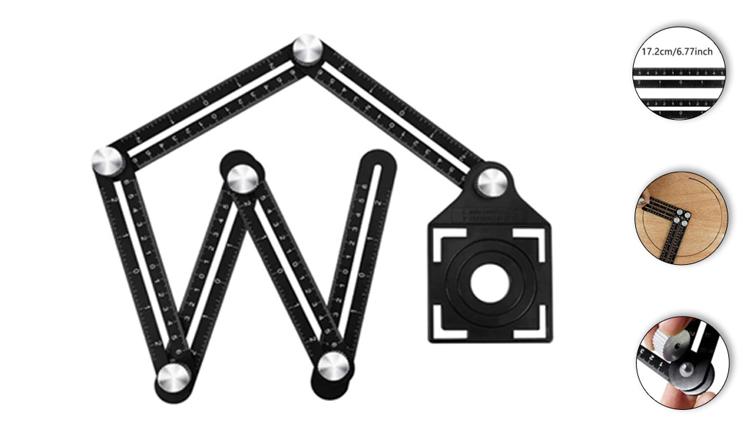 Ceramic Tile Hole Locator – Multi-functional Tiling Tool Double Head Folding Ruler
