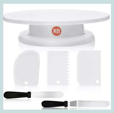 Package set Cake Turntable cake stand turntable cake set